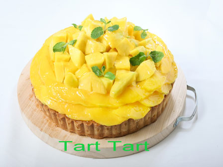 Fruit Pie. Mango Cheese Tart